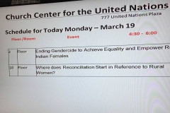 Event note at the UN-Church Center